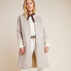 NWT Anthropologie Oxford Reversible Teddy Coat 2P